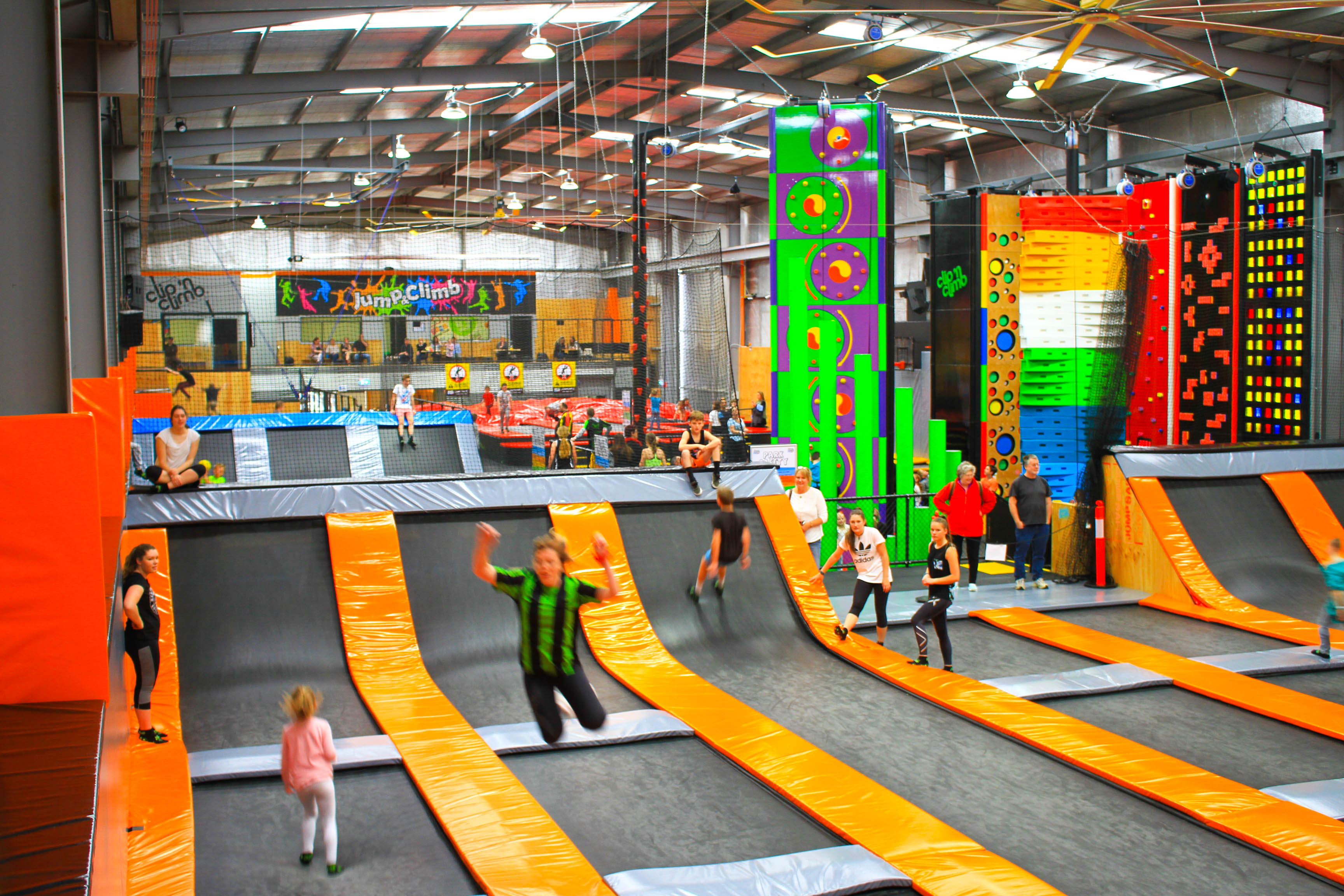 Jump & Play A combo of fun in our soft play plus jumping on the trampolines. Age 5 & under Disco Night Who says there's nothing for kids to do? Chillout with tunes, jumps and DJs at the biggest party in town.